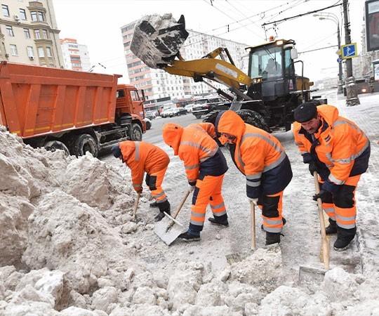 Уборка снега в Новокузнецке и Кемеровской области